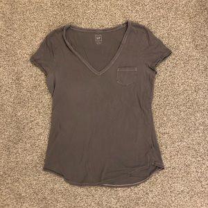 Gap Grey V-Neck Short-Sleeve